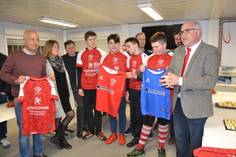 Réception des partenaires du Club et remise de maillots  à nos U16