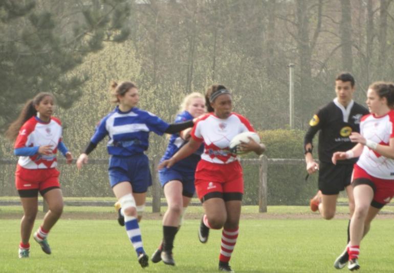 Nos Cadettes U18, Vice Championnes à 10 de la Ligue des Hauts de France de Rugby.  Les Seniors 3ème.